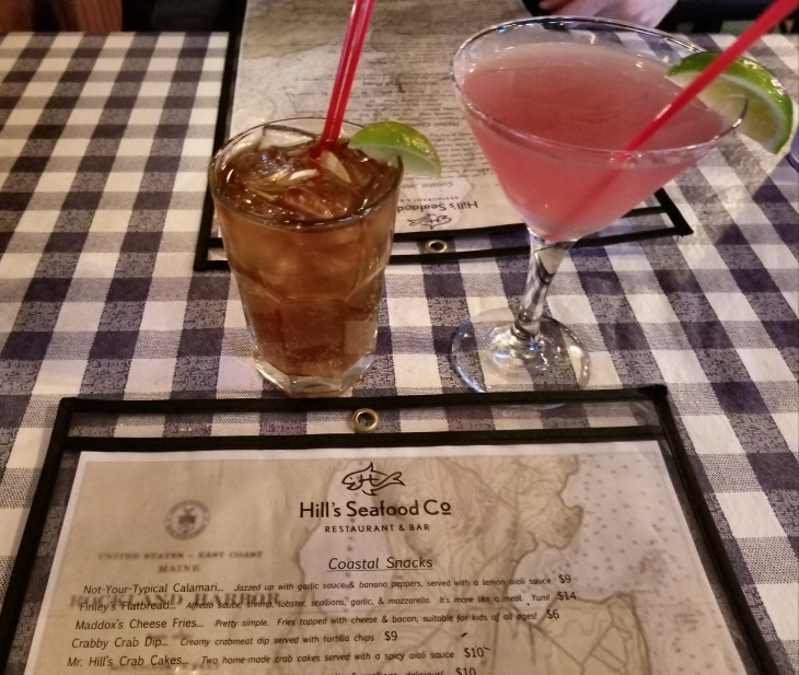 Libations at Hill's Seafood Co