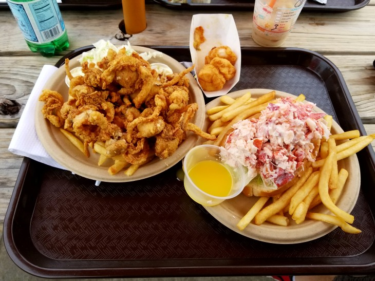 Fried Clam Bellies & Lobster Roll