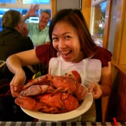 Lobster plate and photobomber